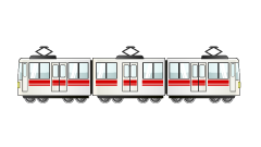 3-car train clip art