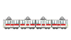 4-car train clip art