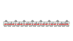8-car train clip art