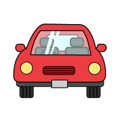 Car front view clip art