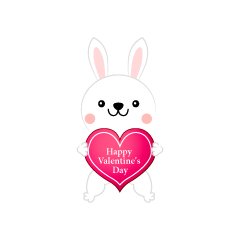 Rabbit Valentine's Day Clip Art