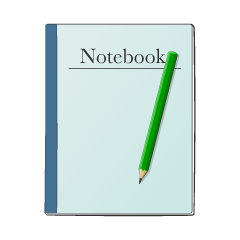 Notes and pencil clip art
