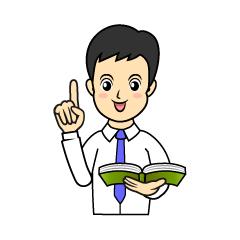指示棒で授業する男性先生の無料イラスト素材|イラストイメージ