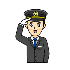 Train driver / conductor clip art