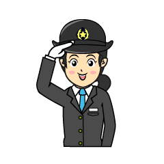 Train female driver clip art