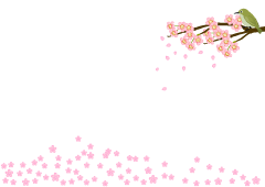 Bird and cherry blossom frame illustration