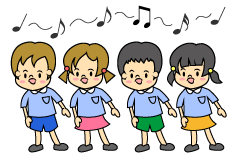 Choir small child clip art