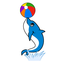 Dolphin clipart to acrobatics
