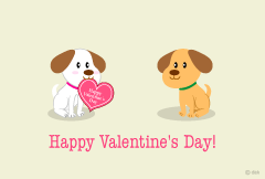 Cute little puppy's Valentine card