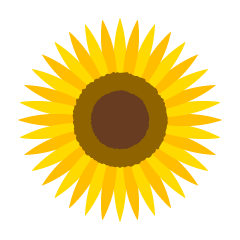 Simple sun flower clip art