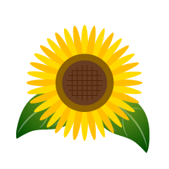 Simple sunflower clip art