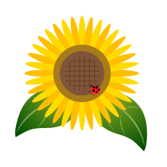 Sunflower and Ladybug Clip Art