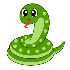 Cute Snake clip art coiling