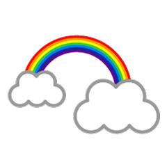 まとめ虹のフリーイラスト素材集イラストイメージ
