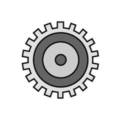 Simple gear icon