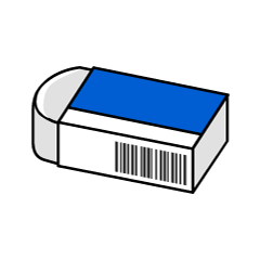 Simple eraser icon