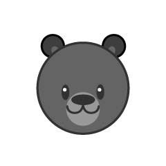 Cute bear face