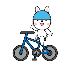 Bicycle rabbit character