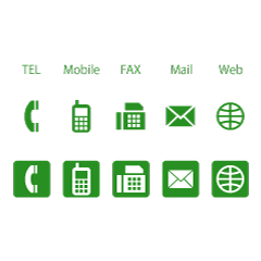 Business green icon