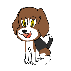 Beagle dog character