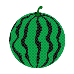 One ball of watermelon (plaid)