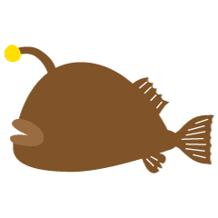 Brown Silhouette Angler