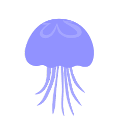 Blue silhouette jellyfish