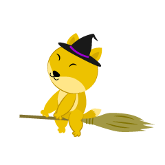 Flying in the sky with a broom Fox