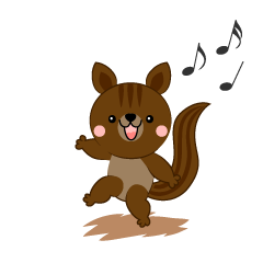 Squirrel to dance