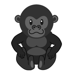 Sitting Child Gorilla