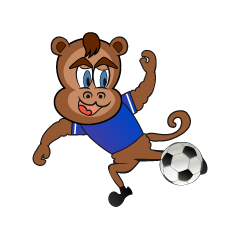 Monkey character to play soccer