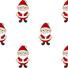 Santa Claus pattern wallpaper