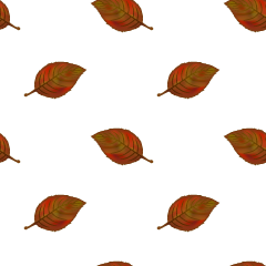 Fallen Leaves Pattern Wallpaper