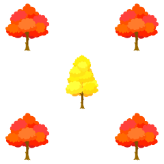 Autumn leaves tree pattern wallpaper