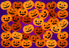 One Side Halloween Pumpkin Wallpaper