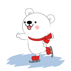 Cute polar bear to skate