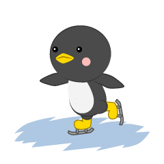 Cute penguin to skate