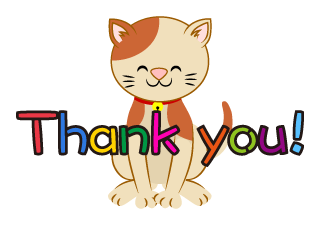 Cat to Thank you