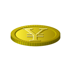 Japanese yen gold coin