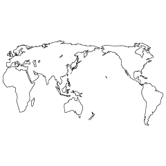 世界地図の無料イラスト素材イラストイメージ