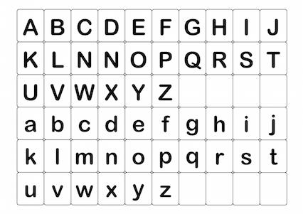 Abc英語アルファベットカード小文字の無料イラスト素材
