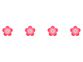 Cute plum flower line