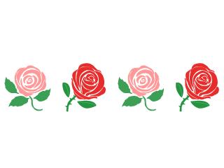 バラの花の無料イラスト素材 イラストイメージ