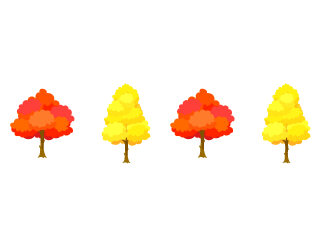 Autumn leaves line