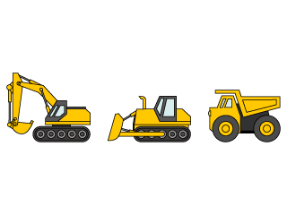 Construction vehicle line