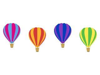 Colorful Balloon Line