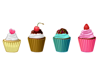Colorful Cupcake line