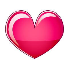 Glossy Pink Heart