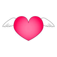 Heart with cute wings