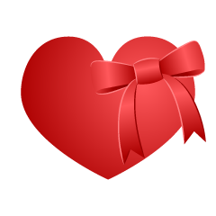 Red heart and ribbon